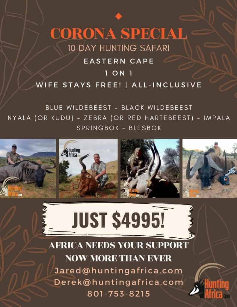 Hunting Africa corona special package