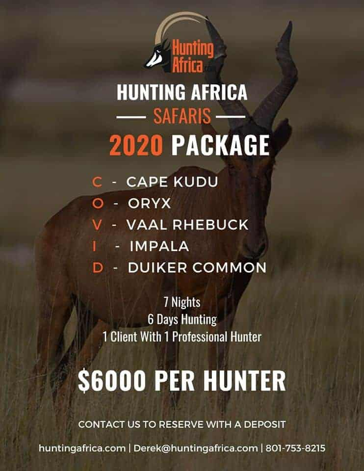Hunting Africa 2020 hunt package