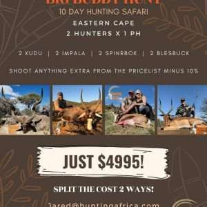 Hunting Africa big game packages
